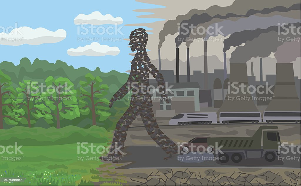 Pollution. royalty-free stock vector art