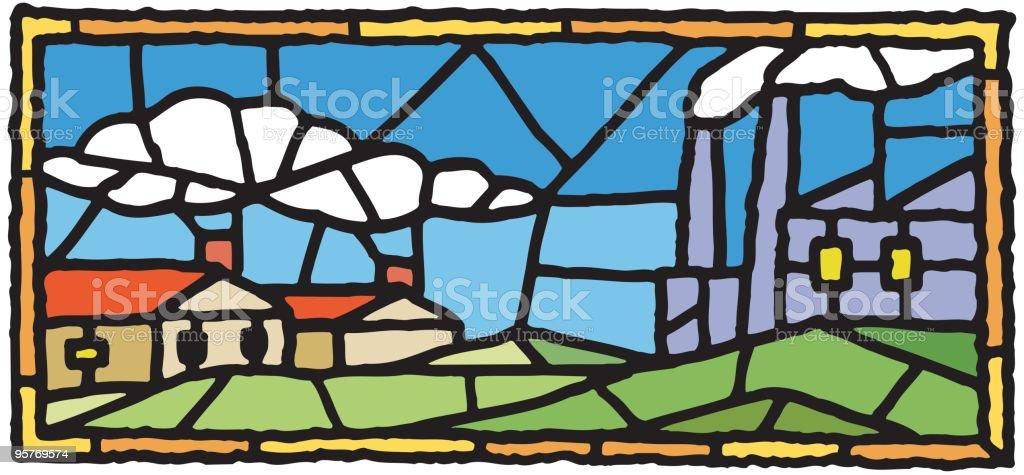 Pollution vector art illustration