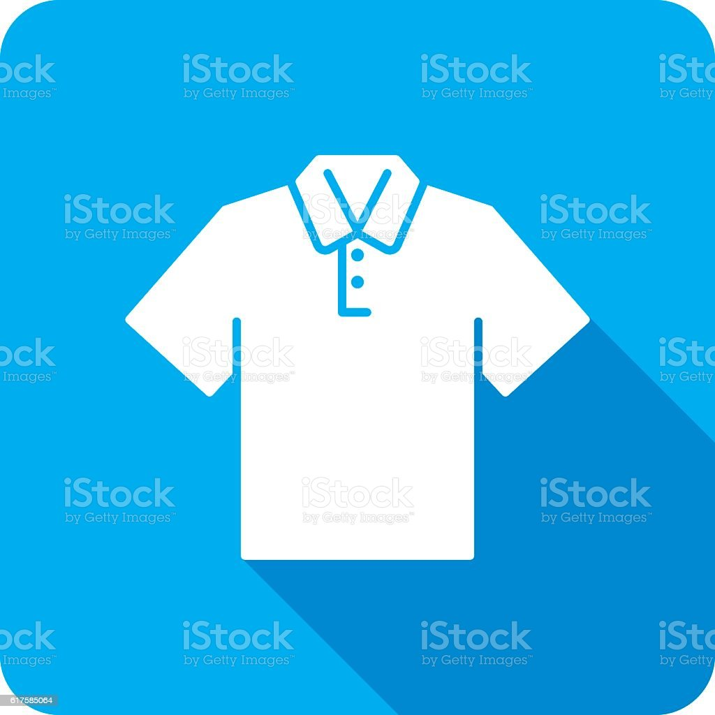Polo Shirt Icon Silhouette vector art illustration