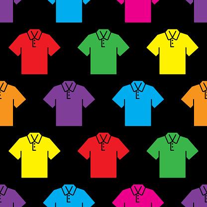 Polo Shirt Pattern Colorful