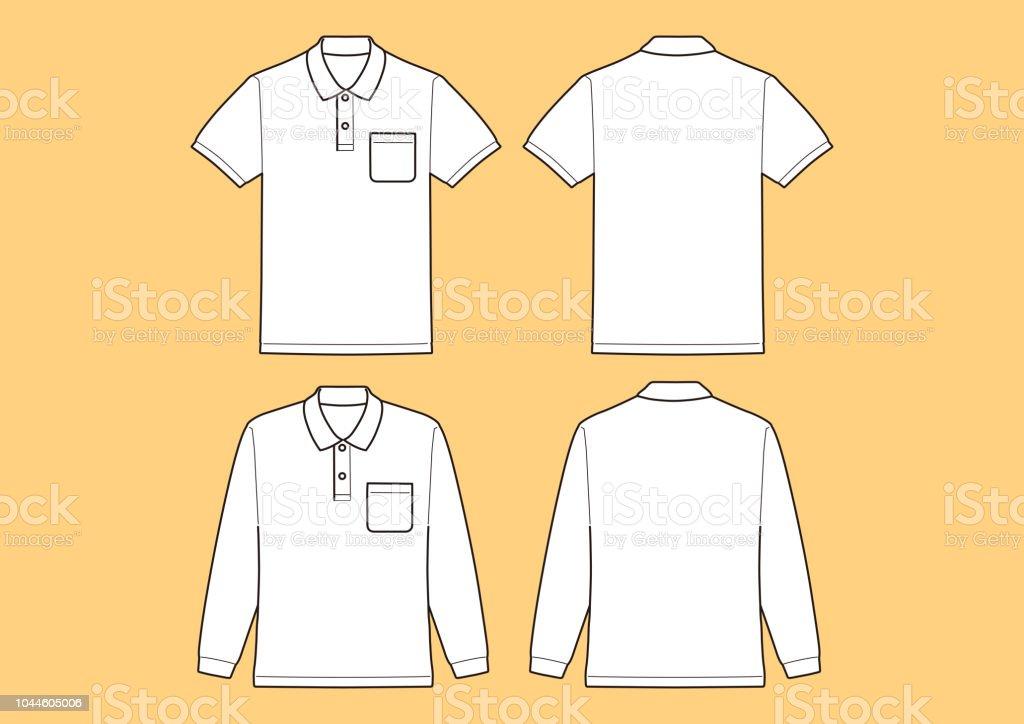 Polo shirt Short sleeve, Long sleeve Template, Vector Illustration