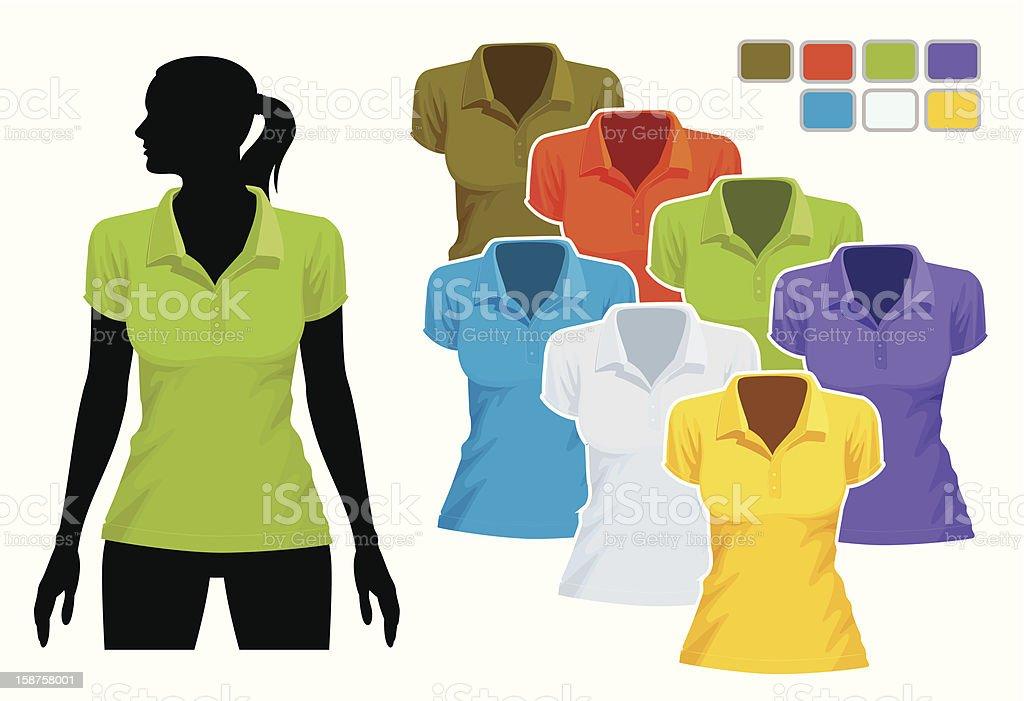 Polo shirt template vector art illustration