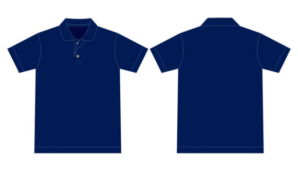 polo shirt vector for template - лекало stock illustrations