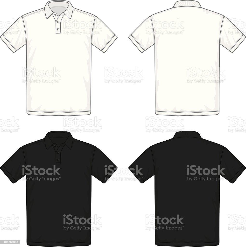 polo shirt vector art illustration