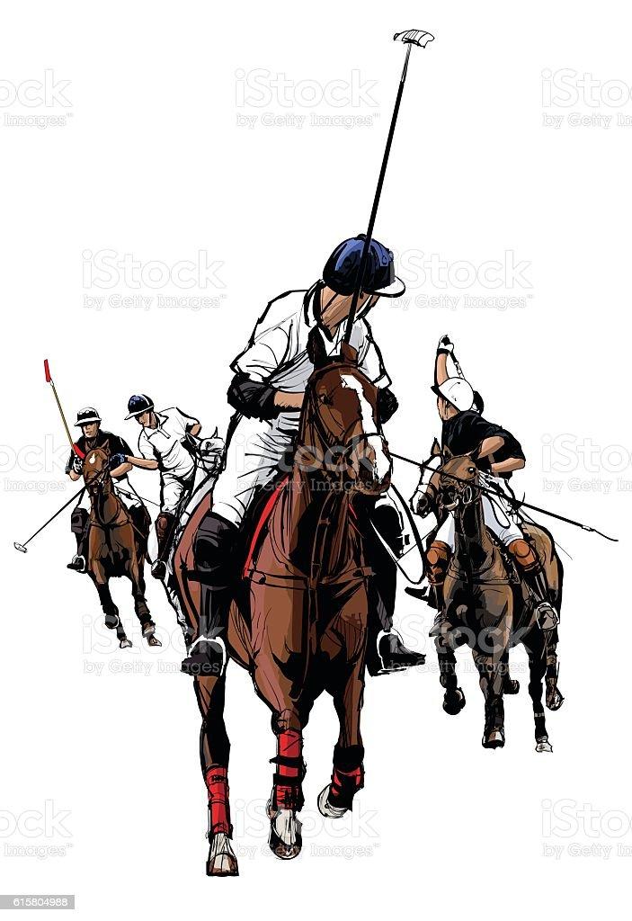 Polo Sport Player on horseback