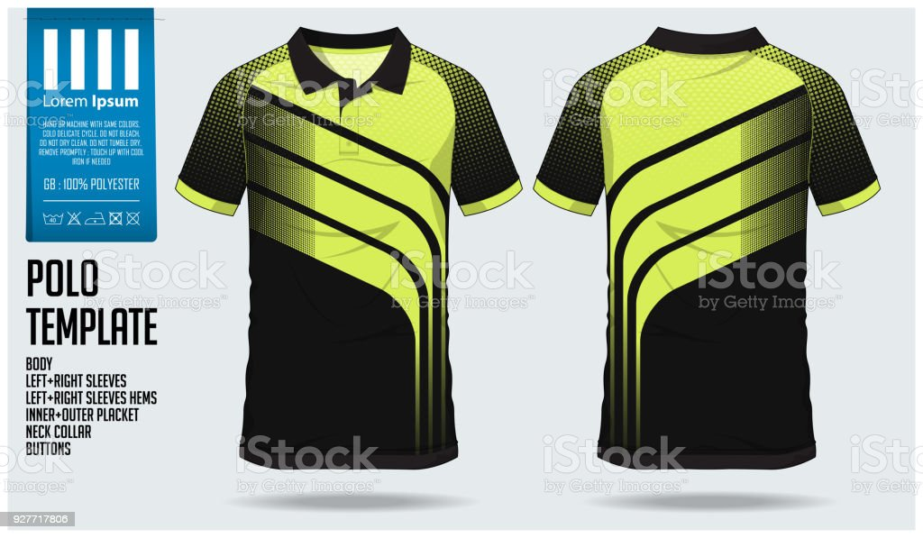 Polo t shirt sport design modèle pour maillot de football, club de football  kit ou 236f94da085