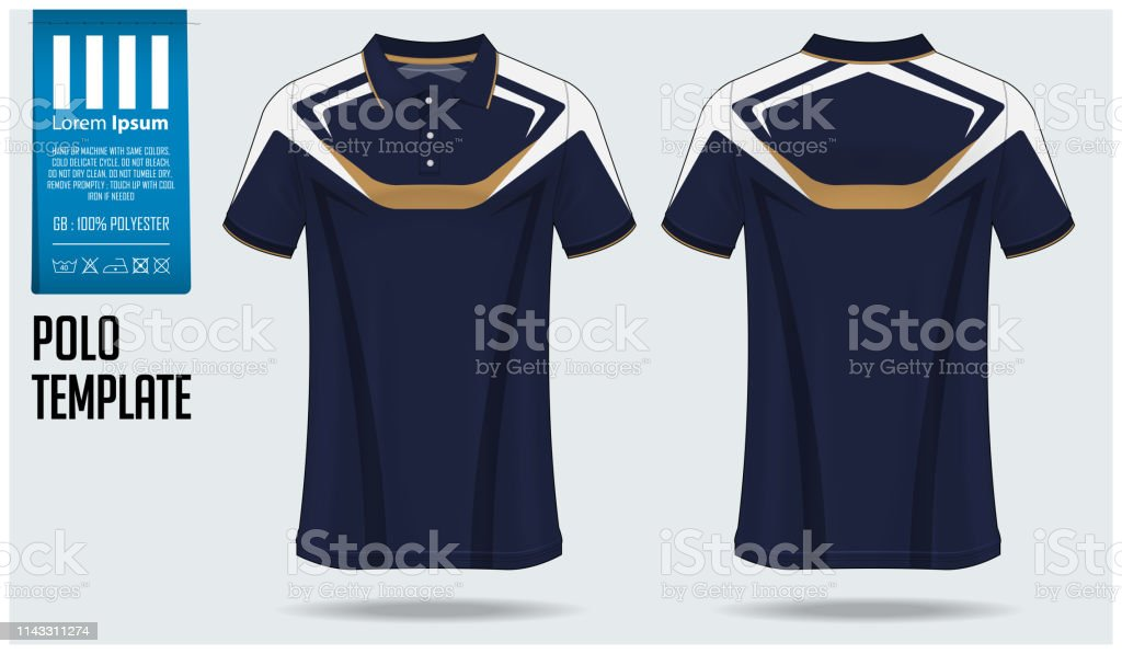 Polo Tshirt Mockup Template Design For Soccer Jersey Football Kit