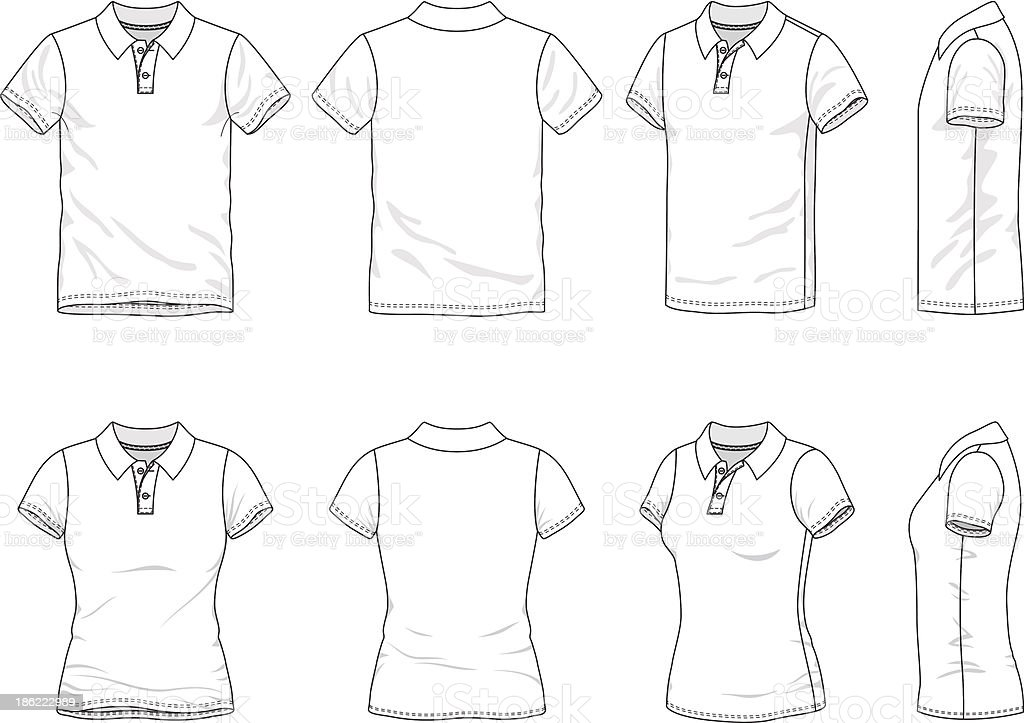 Polo t-shirt vector art illustration