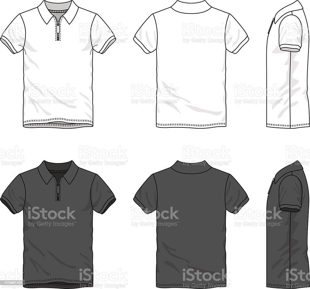 Polo t-shirt vector art illustration