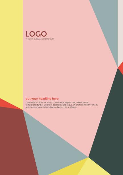 polygon art felder – cover vorlage 3 (geometrische minimalismus set) - avantgarde stock-grafiken, -clipart, -cartoons und -symbole