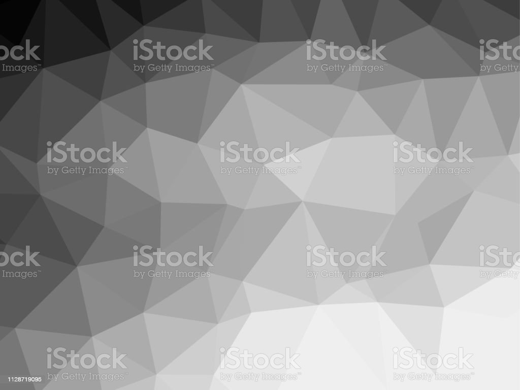 ポリゴン背景パターン 多角形 黒と白の壁紙灰色 ベクトル イラスト