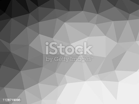 Polygon background pattern - polygonal - black and white wallpaper gray - vector Illustration