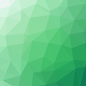 Polygon background pattern - polygonal - green wallpaper - vector Illustration
