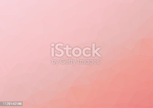 Polygon background pattern - polygonal - pink wallpaper - vector Illustration