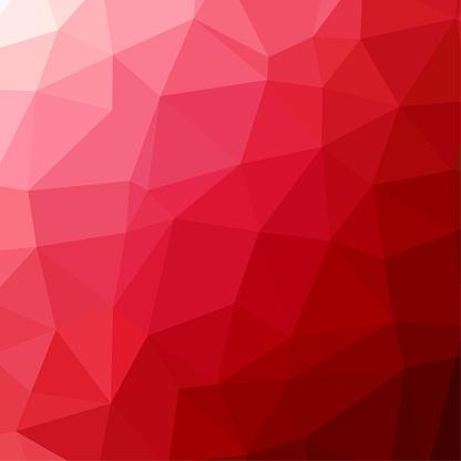 Polygon background pattern - polygonal - red wallpaper - vector Illustration