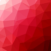 Polygon background pattern - polygonal - red wallpaper - vector Illustration