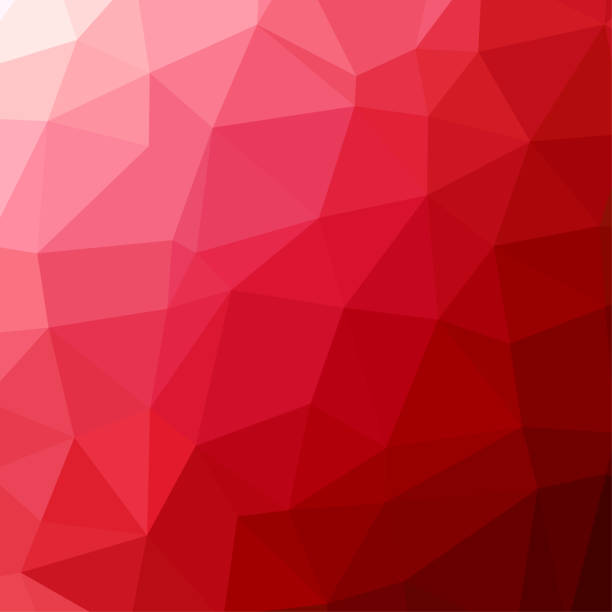 Polygon background pattern - polygonal - red wallpaper - vector Illustration Polygon background pattern - polygonal - red wallpaper - vector Illustration two dimensional shape stock illustrations
