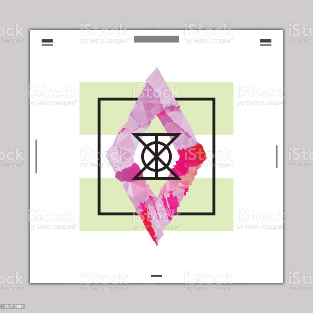 polygon diamond abstract graphic design poster layout template stock