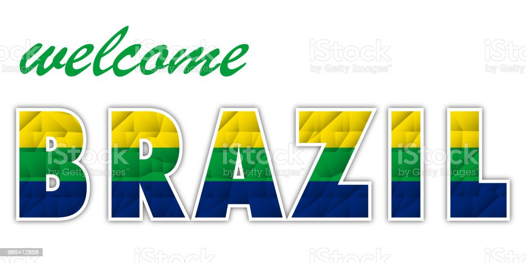 polygon features welcome Brazil polygon features welcome brazil - stockowe grafiki wektorowe i więcej obrazów abstrakcja royalty-free