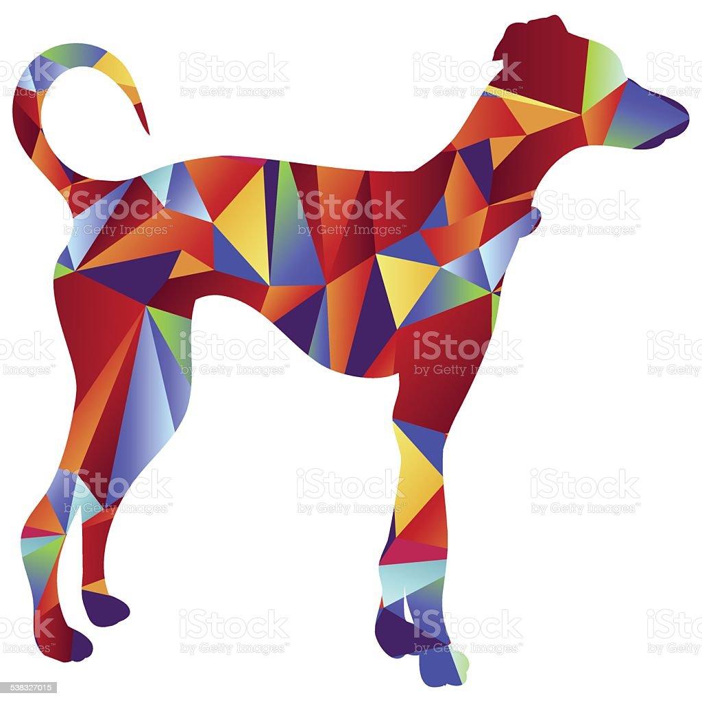 Polygon Greyhound Dog Icon vector art illustration