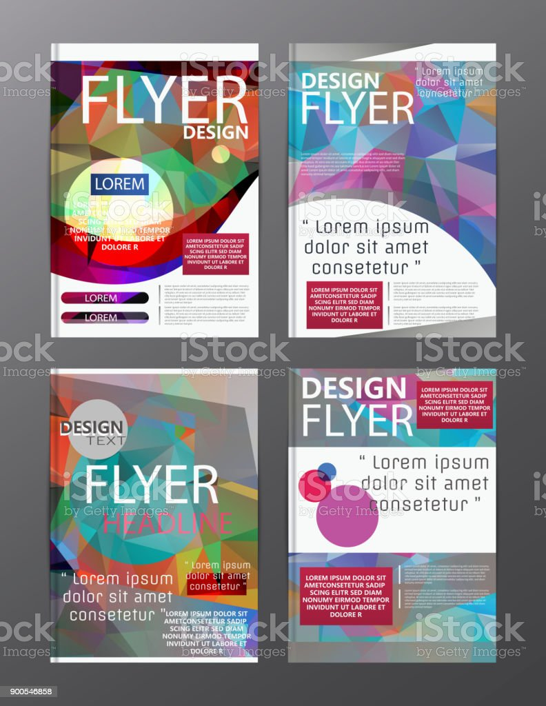 modern business leaflet template free vector. yellow flat modern ...