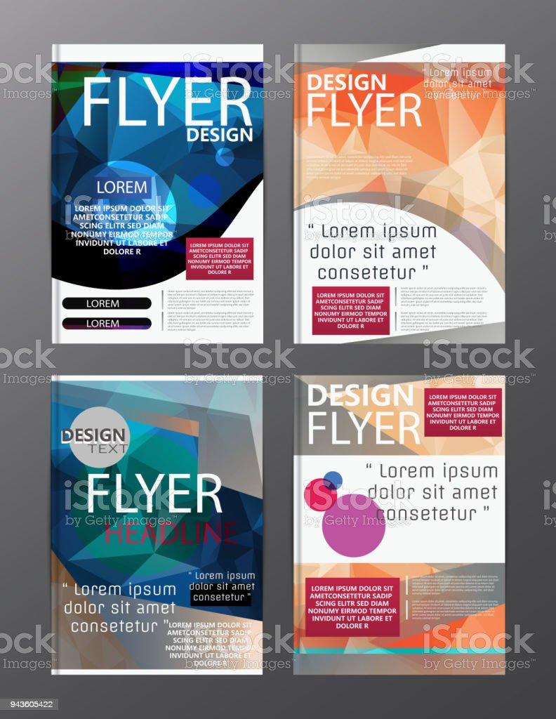 polygon modern brochure layout design templateflyer leaflet cover presentation royalty free polygon modern