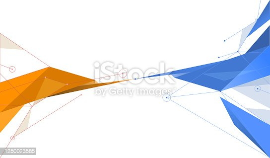 abstract network polygonal design abstract background template
