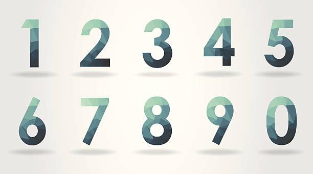 wielokąt numer zestawu - dane finansowe stock illustrations