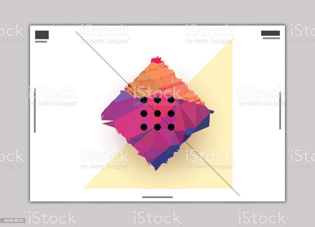 Polygon Square Abstract Graphic Design Poster Layout Template Stock