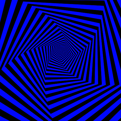 Polygon tunnel spinning. 3D Vector