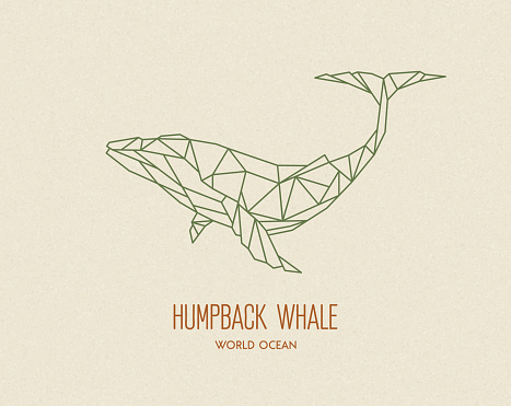 Polygon whale silhouette