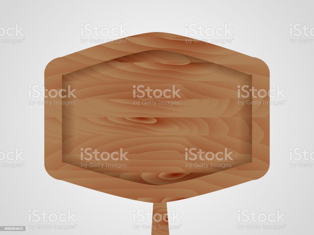 Polygon wooden sign. Vector illustration vector art illustration