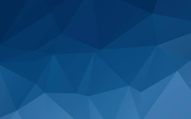 Polygonal Abstract Background Deep blue abstract triangular vector abstract wallpaper background dark blue stock illustrations