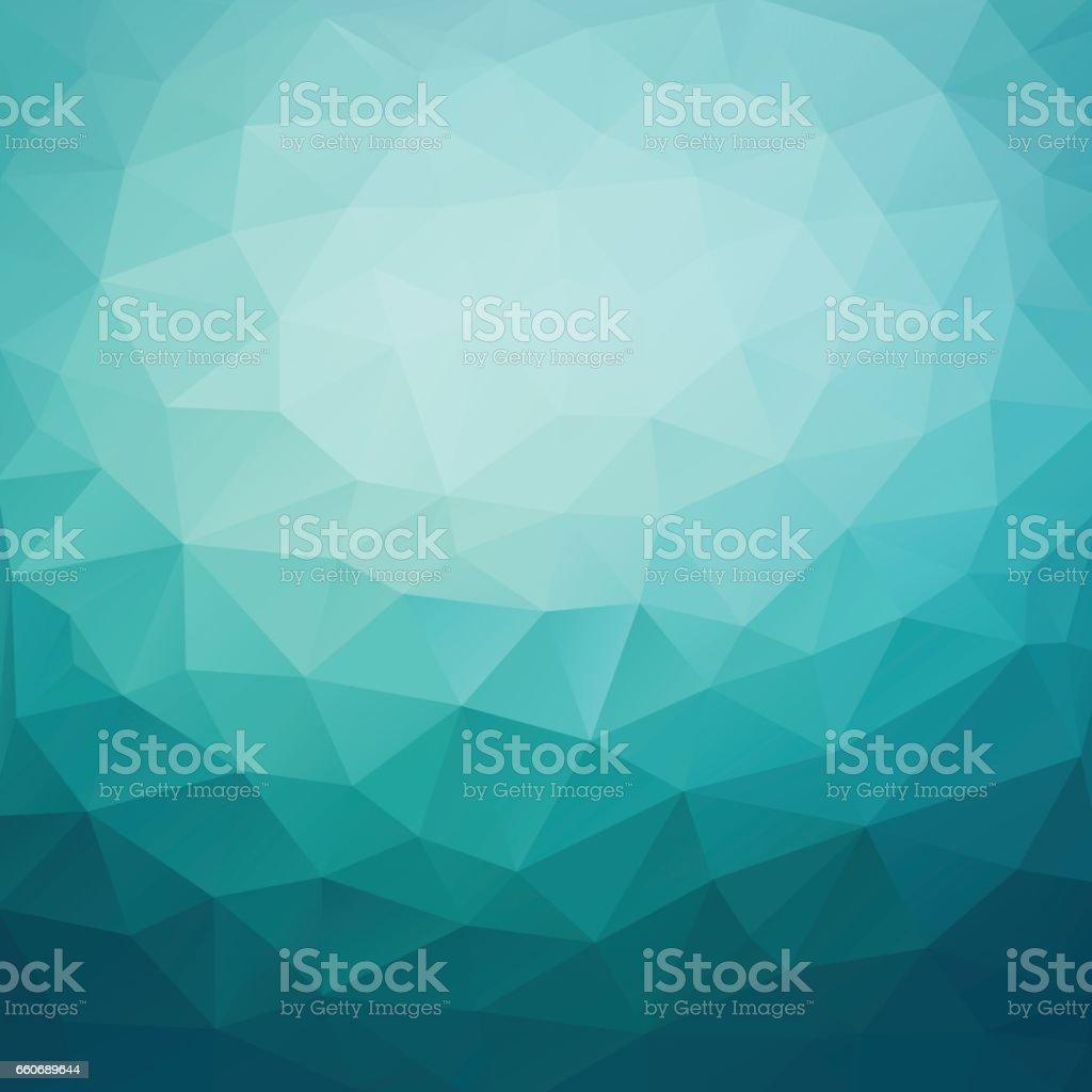 Polygonal abstract geometric dark blue triangular low poly style gradient background illustration vector art illustration