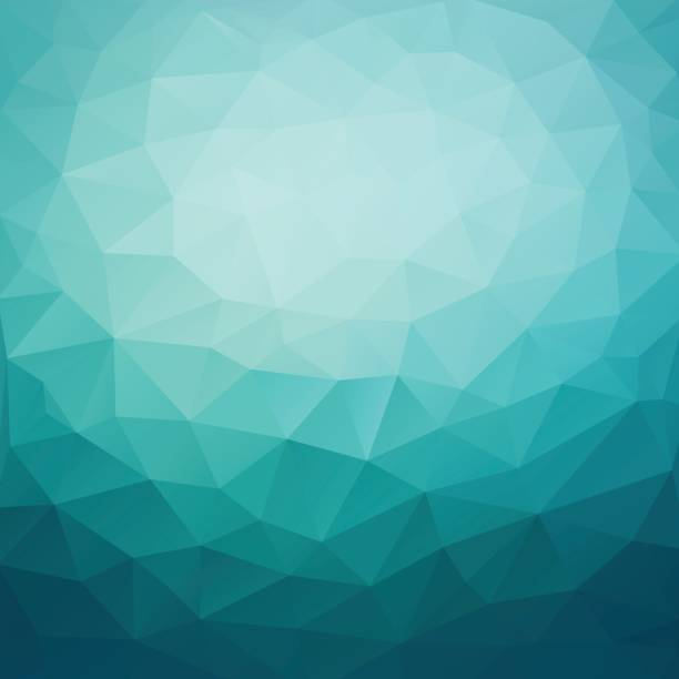 polygonal abstract geometric dark blue triangular low poly style gradient background illustration - polygon background stock illustrations