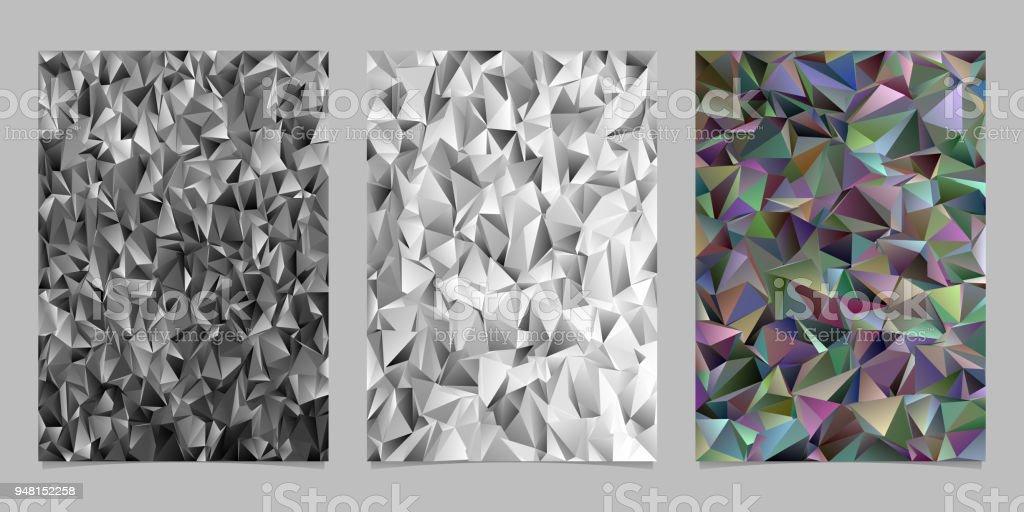 Polygonale Abstrakte Unregelmassige Dreieck Fliesen Mosaik Flyer