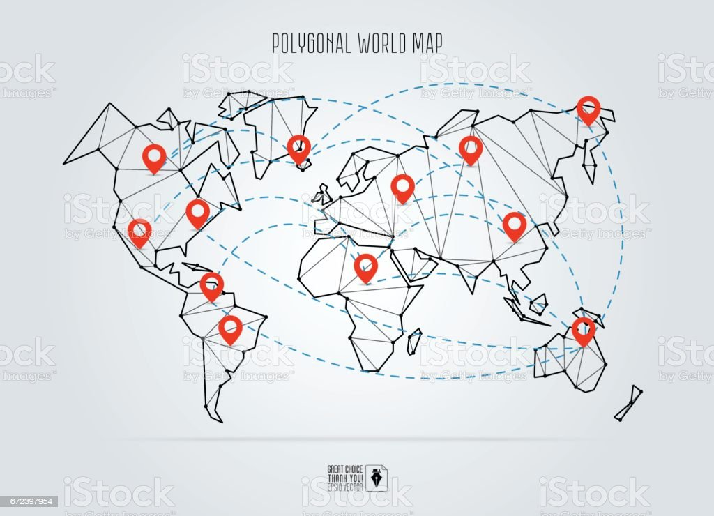 Polygonal Abstract World Map Vector Illustration Abstract ... on christmas world map, coniferous world map, education world map, technology world map, light world map, money world map, deleting world map, reading world map, food world map, connected world map, resources world map, internet world map, love world map, jumping world map, business world map, media world map, open world map, change world map, cutting world map, teaching world map,