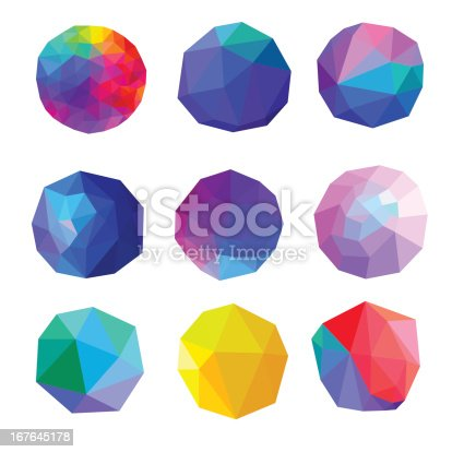 Vector Illustration of Colorful Polygonal Abstract Sphere