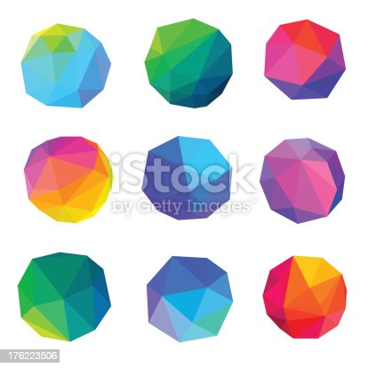 Vector Illustration of Colorful Polygonal Abstracts