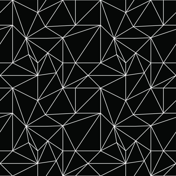Bекторная иллюстрация Polygonal background. Black seamless pattern