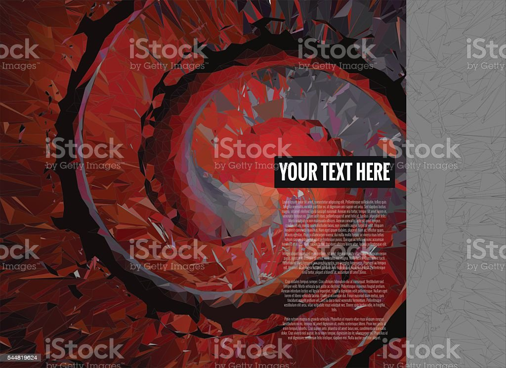 Polygonal background template with graphic novel color style vector art illustration