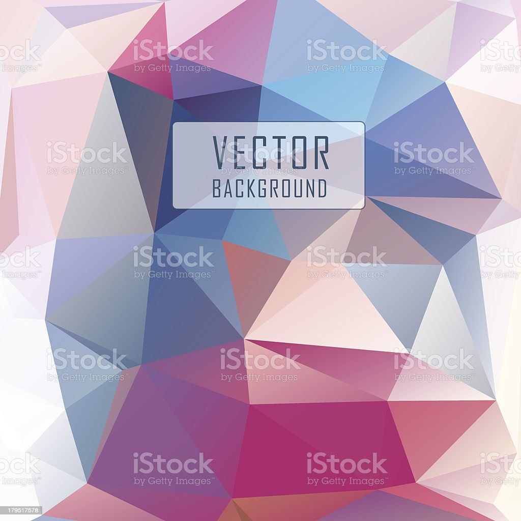 Polygonal background royalty-free stock vector art