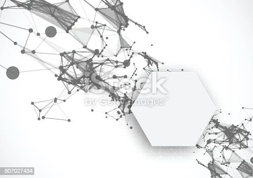 istock Polygonal background with triangles 507027434