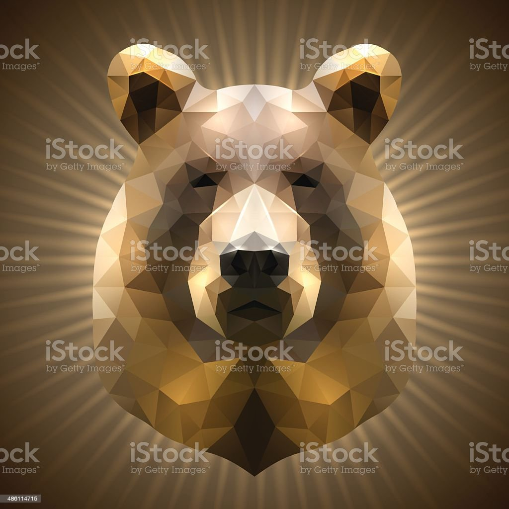 Polygonal Bear vector art illustration