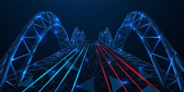 Polygonal bridge design.