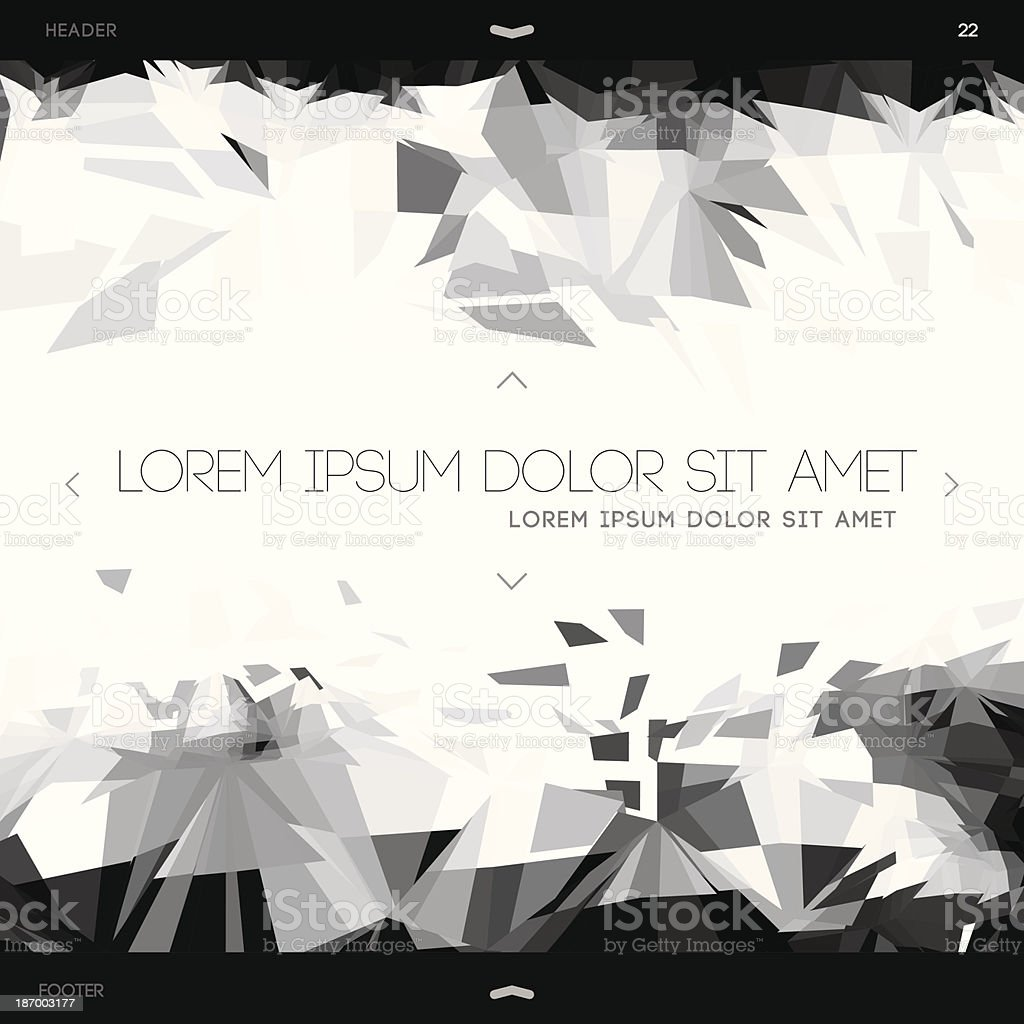 Polygonal design, abstract web template royalty-free polygonal design abstract web template stock vector art & more images of abstract