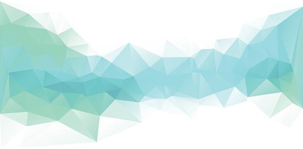 Polygonal Design Blue