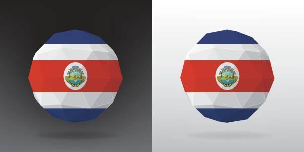Polygonale Flag - Costa Rica – Vektorgrafik