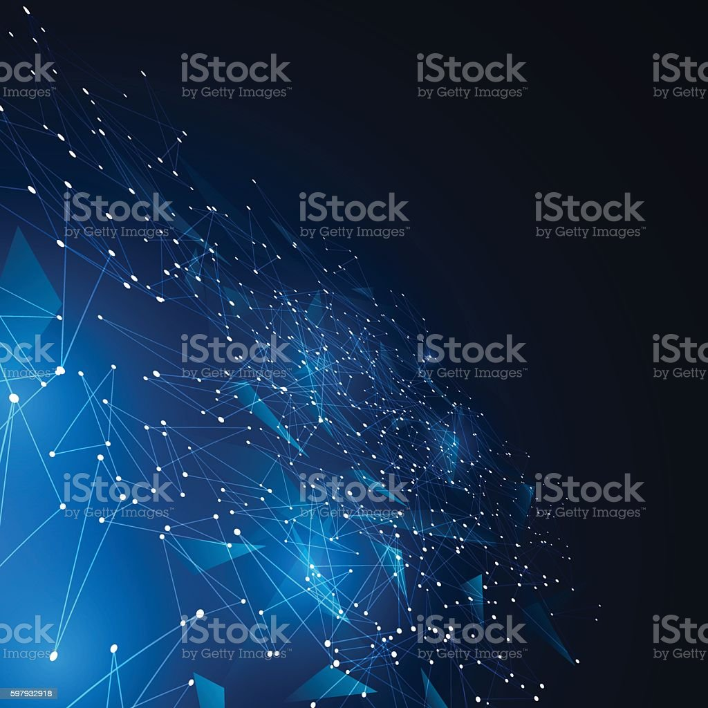 polygonal geometric networking connection concept background – Vektorgrafik