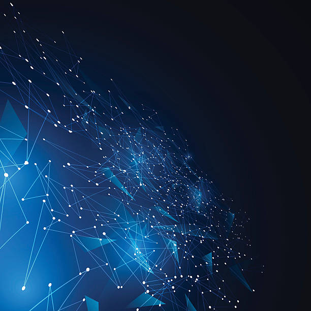 polygonal geometric networking connection concept background – Vektorgrafik